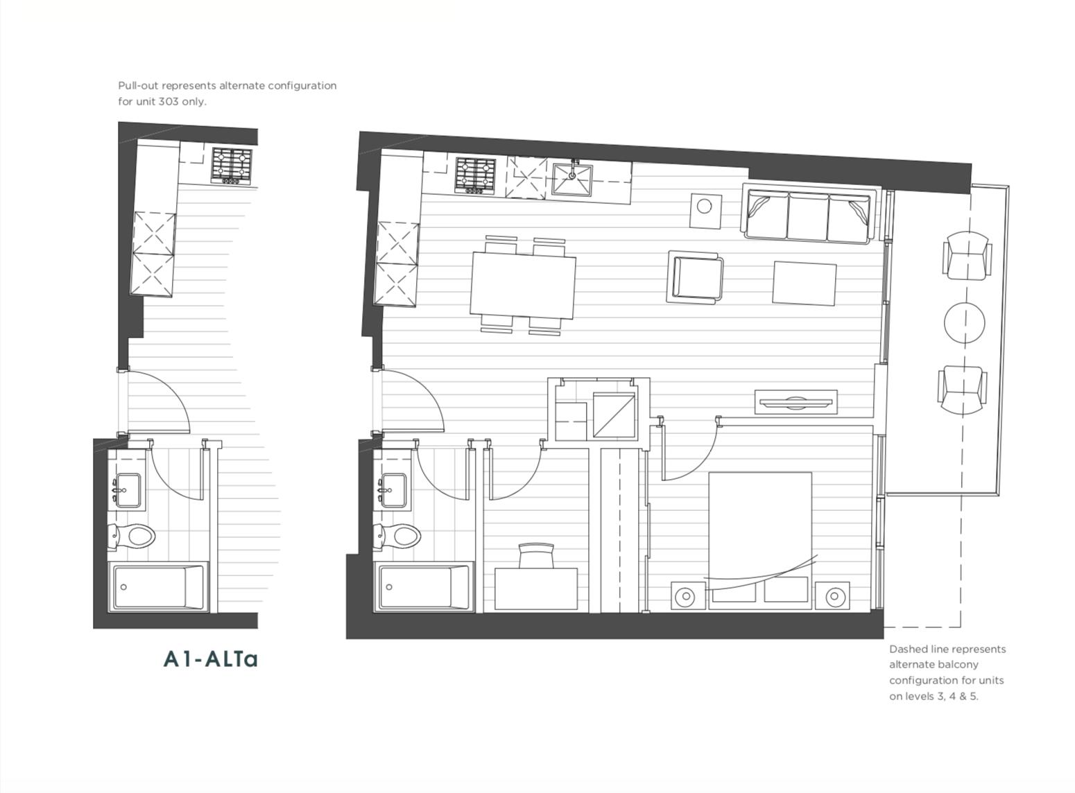 Picasso Unit 0419 - 1 Bedroom