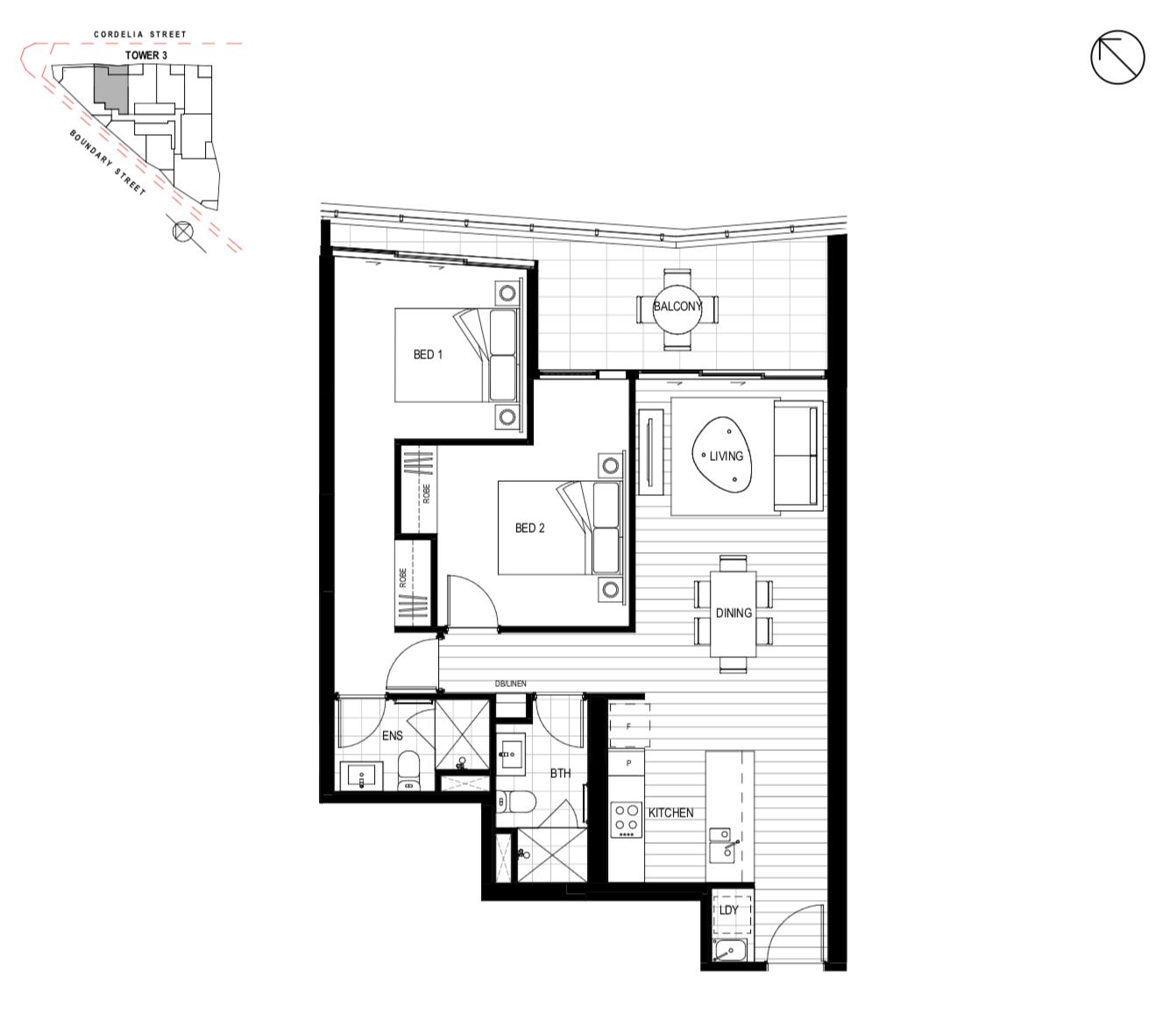 Tower 3 Unit 0403 - 2 Bedroom
