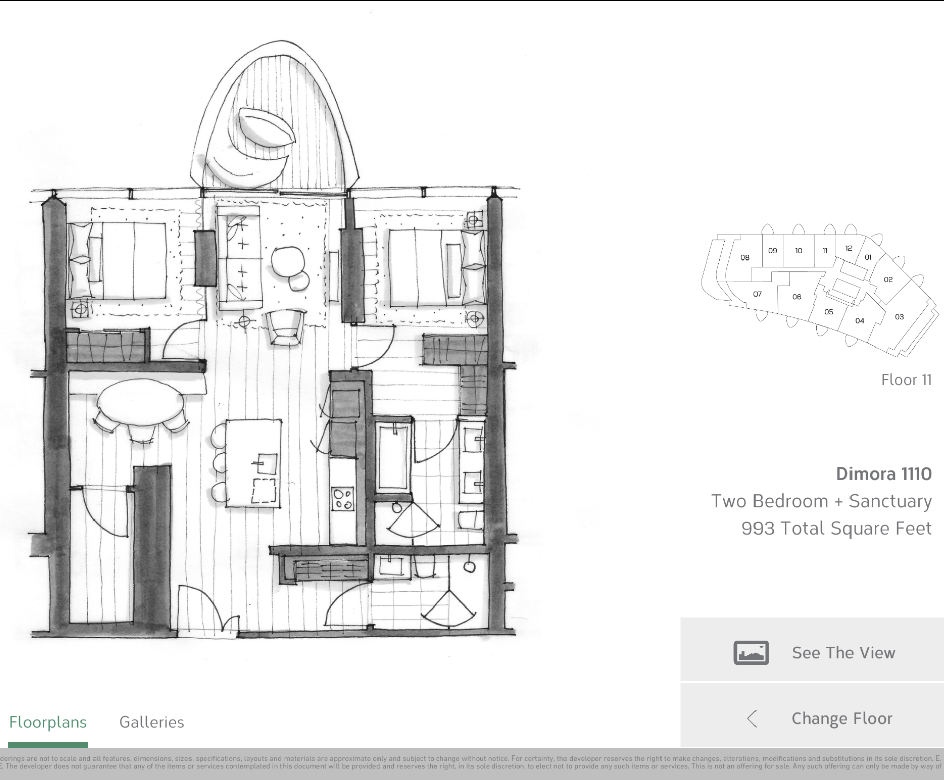 Two Bedroom 1110