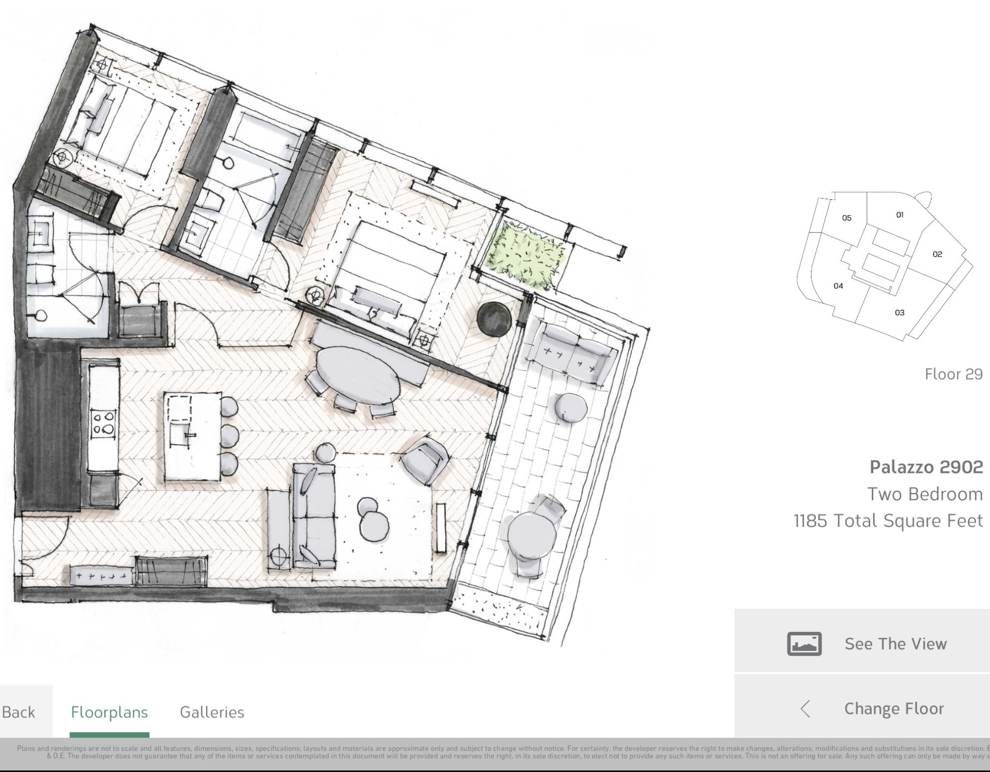 Two Bedroom 2902