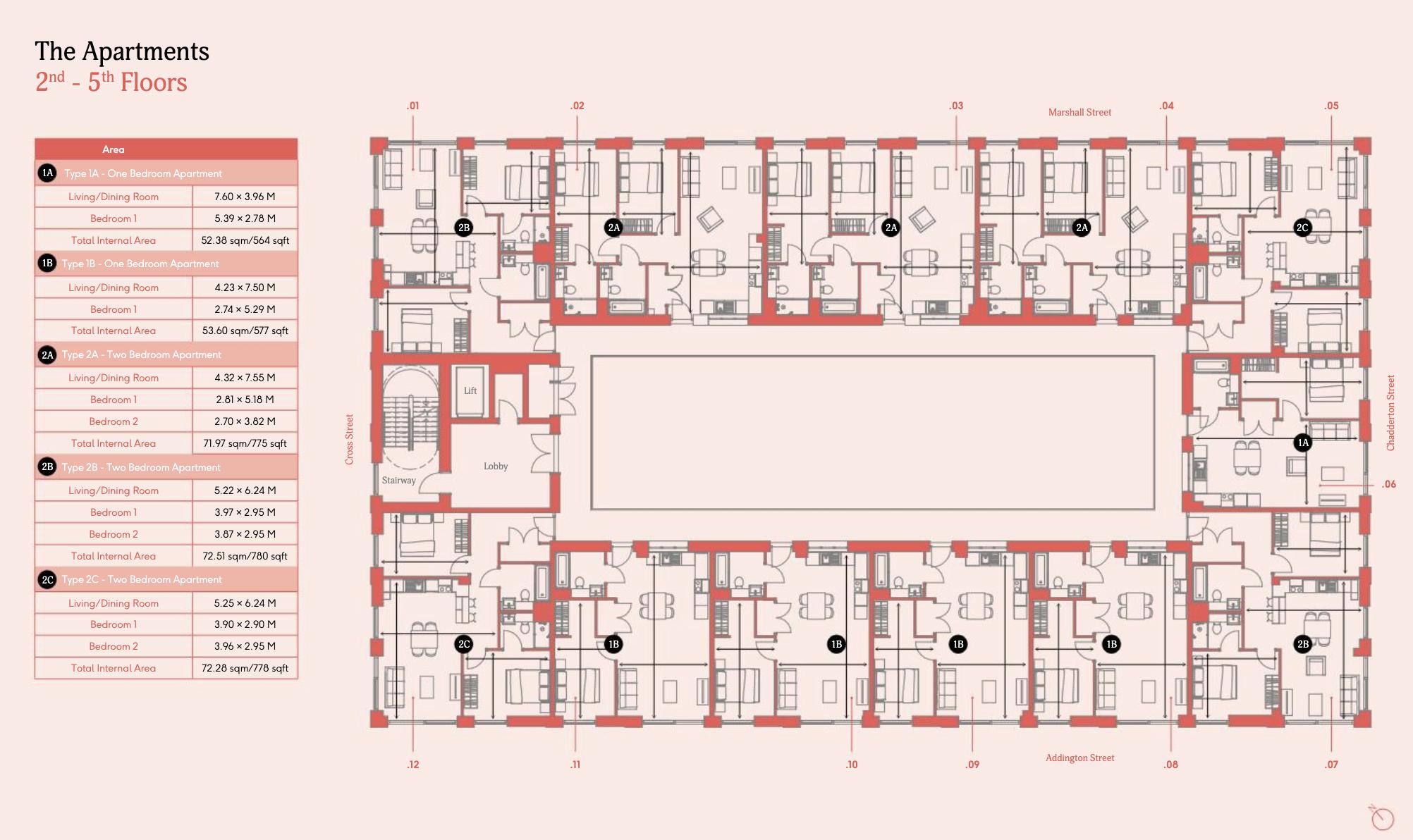 2nd Floor & 5th Floor