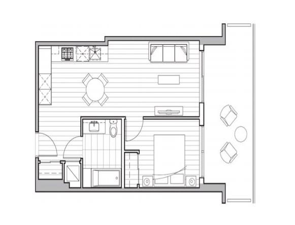 Unit 1003 - 1 Bedroom