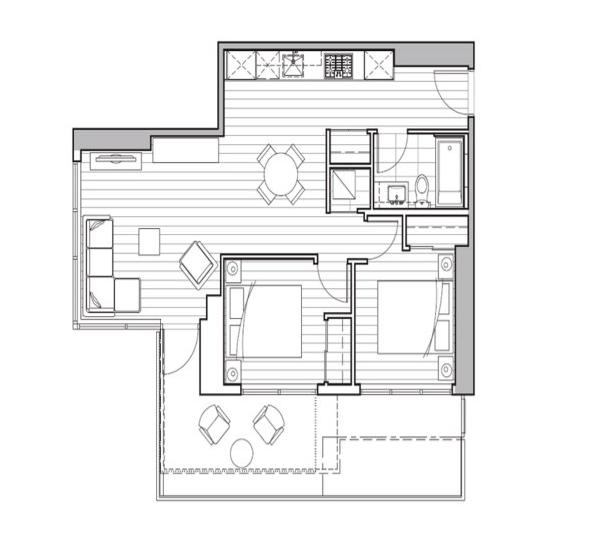 Unit 2207 - 2 Bedroom