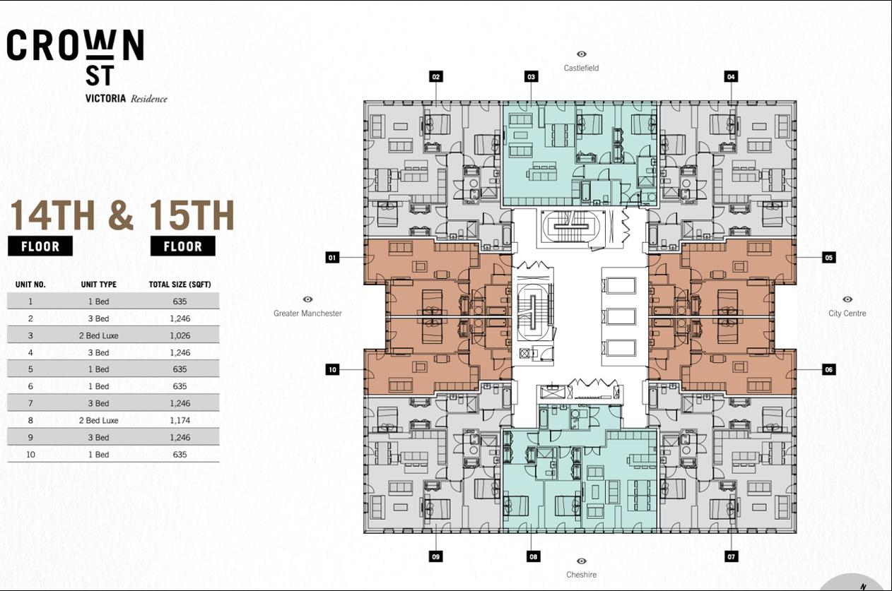 14th - 15th Floor